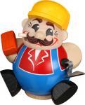 Kugelräuchermann Bauarbeiter