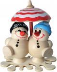 Cool Man - Fritz & Freddy im Eisregen mit Schirm