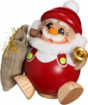 Kugelräuchermann Nikolaus mit Geschenkesack