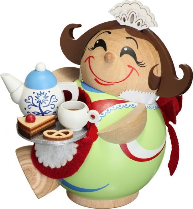 Kugelräucherfigur Schokoladenmädchen/Konditorin